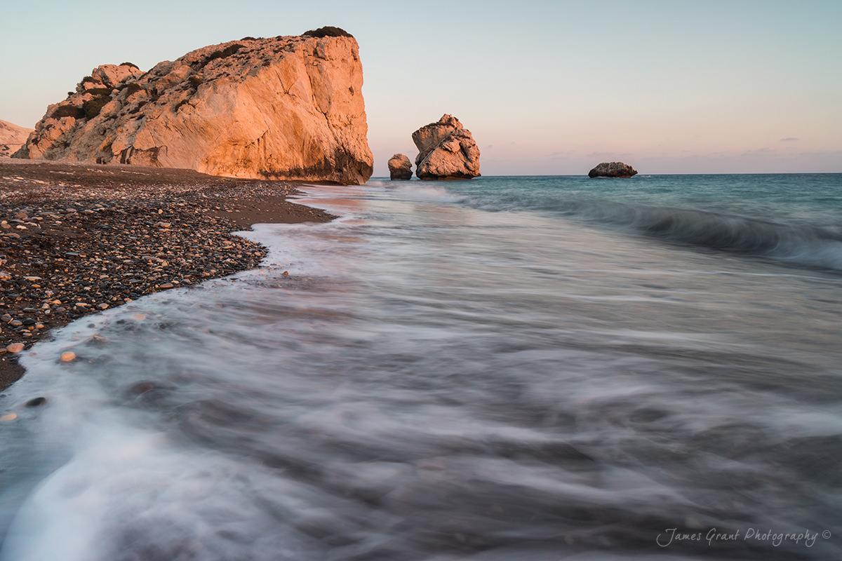 Aphrodites Rock Sunset Landscape - Cyprus