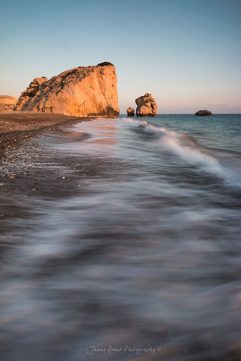 Aphrodites Rock Sunset Portrait - Cyprus