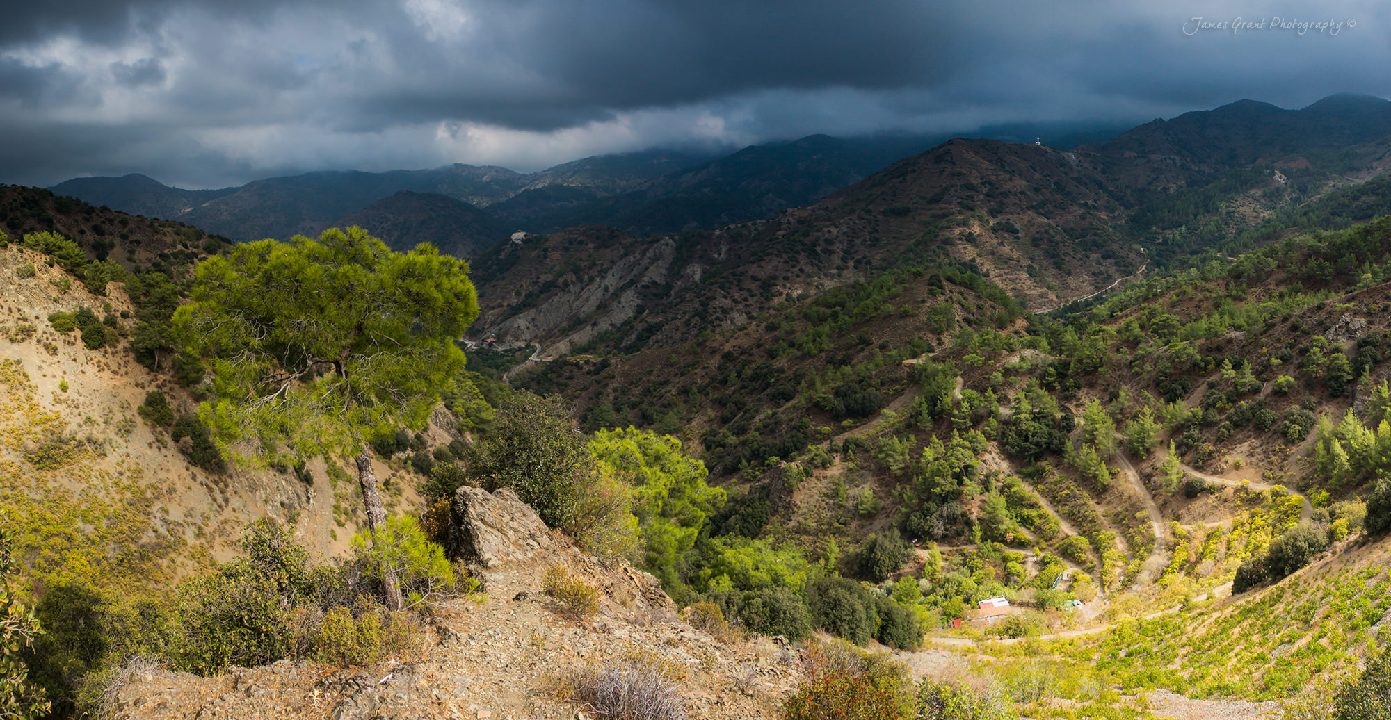 Trodoos Mountains Panoramic - Cyprus