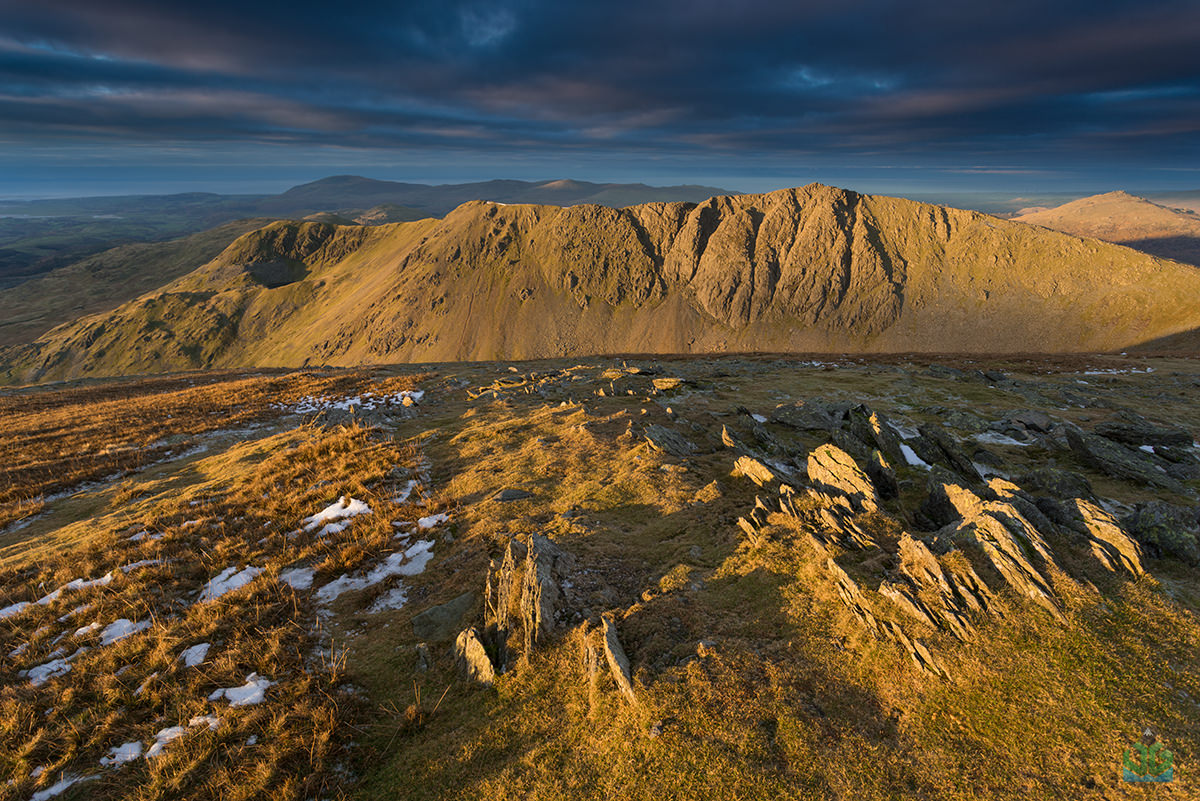 Dow Crag from Old Man Of Coniston Sunrise - Lake District Photography
