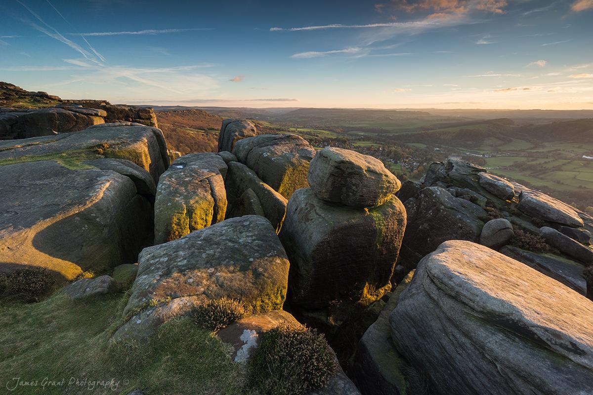 Froggatt Edge Sunset - Peak District Photography