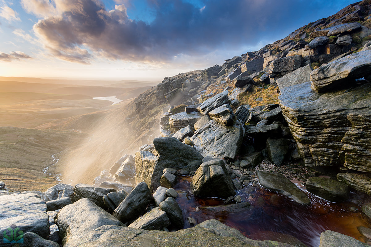 Kinder Downfall Sunset - Peak District Landscape Photography