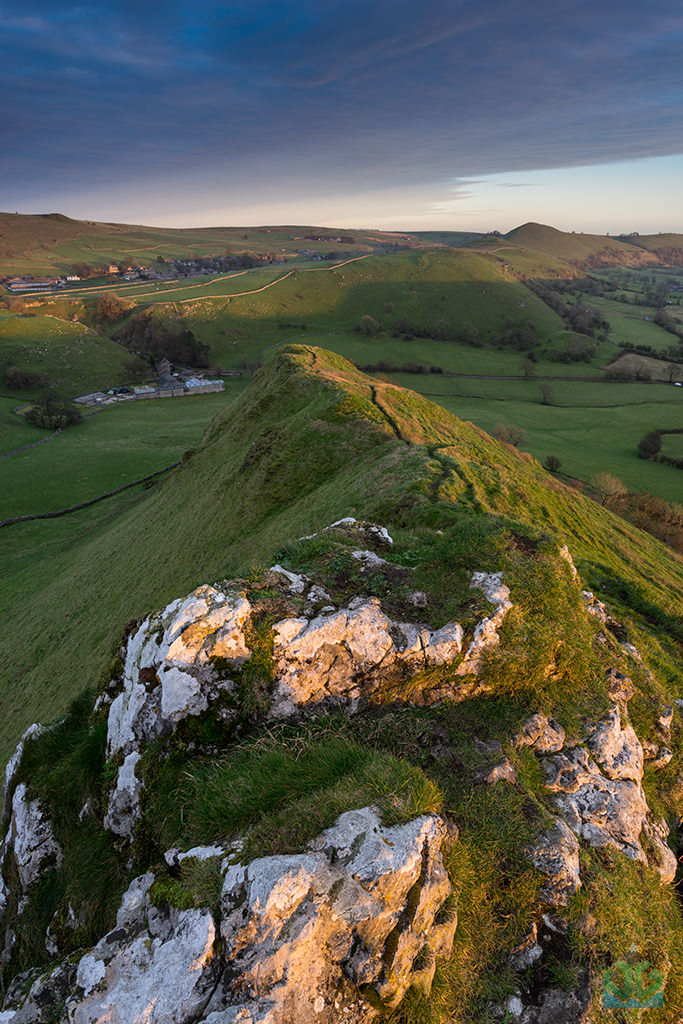 Parkhouse Hill looking to High Wheeldon and the Dove Valley at Sunset - Peak District Landscape Photography