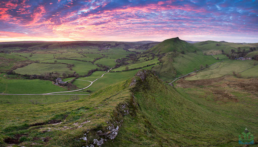 Parkhouse Hill Sky Fire at Sunset - Peak District Landscape Photography