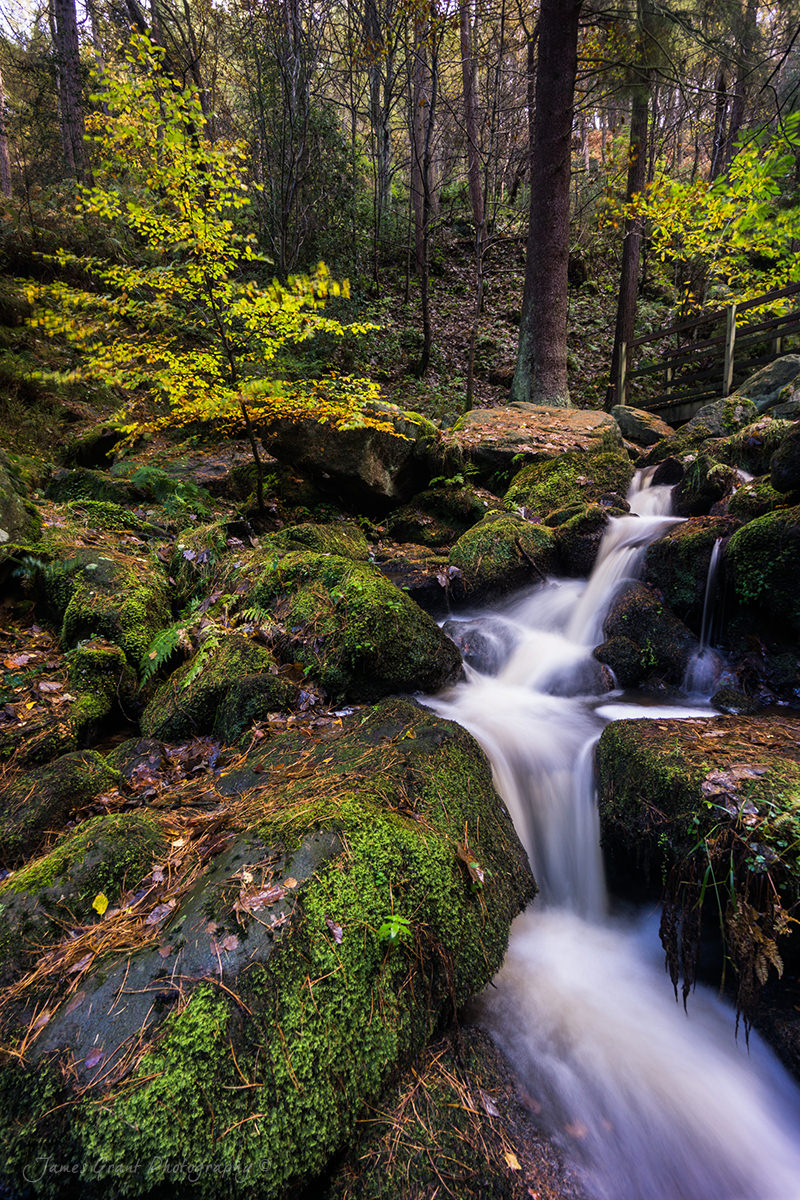 Wyming Brook Cascade - Peak District Photography