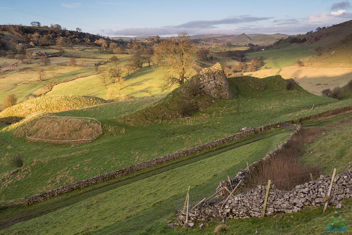 Pilsbury Castle Sunrise - Peak District Landscape Photography