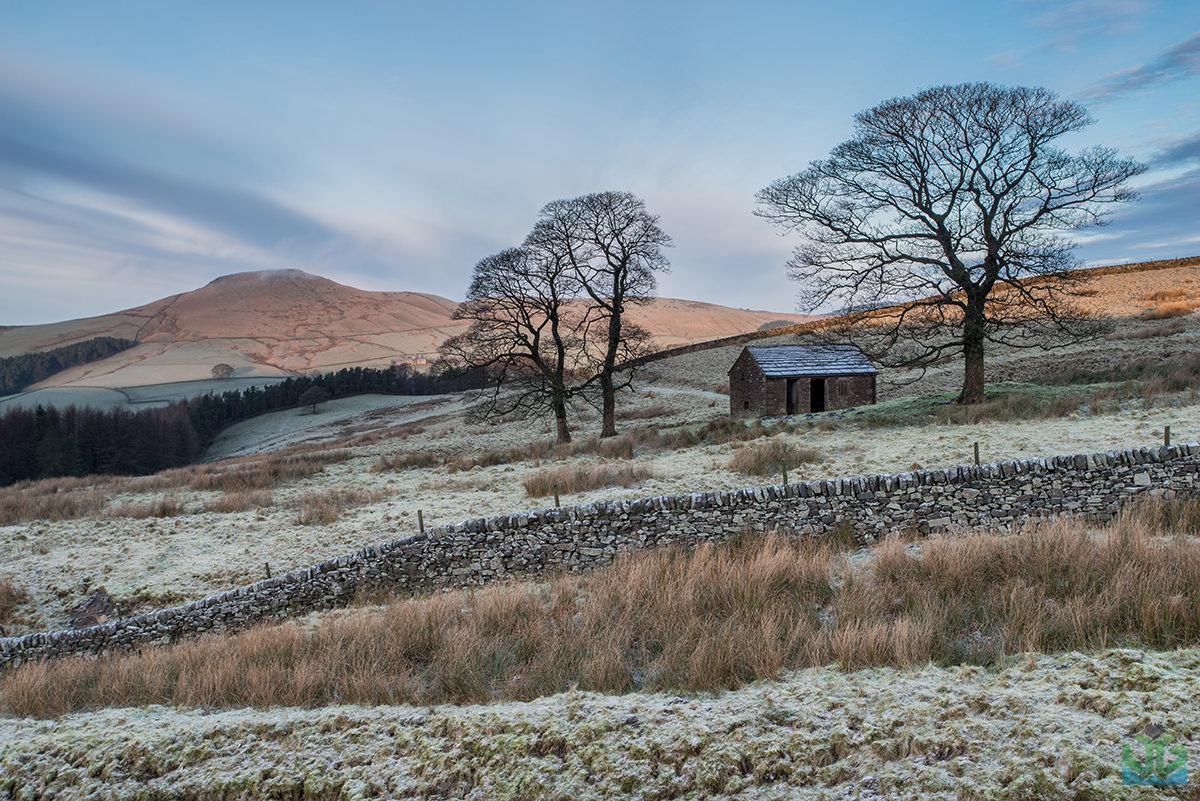 Wildclough Barn looking to Shutlingsloe - Peak District Landscape Photography