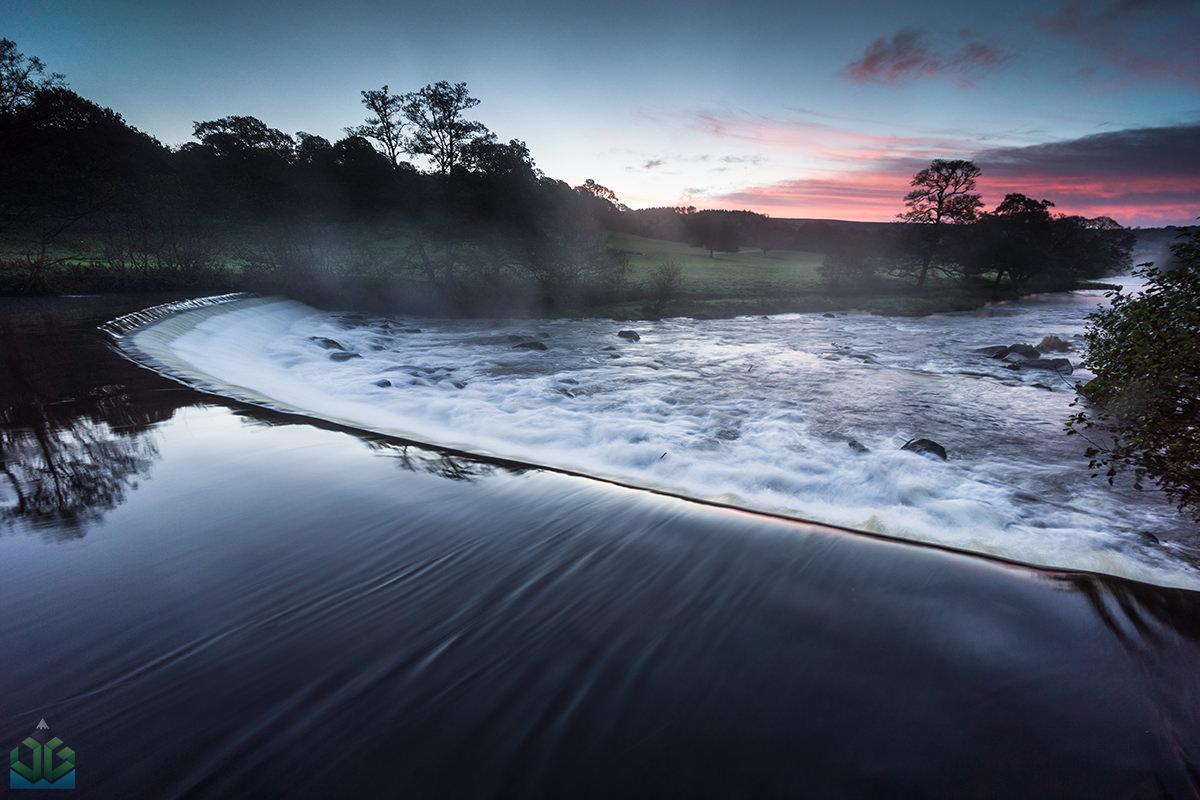 Chatsworth Weir Sunrise - Peak District Landscape Photography
