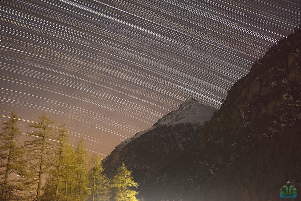 Randa Startrails - Switzerland Photography