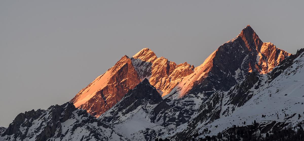 Taschorn Sunset - Switzerland Photography