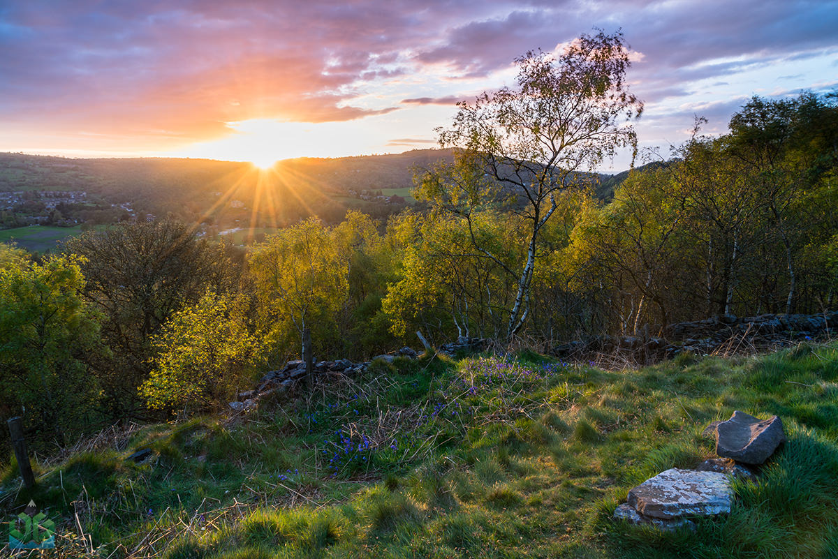 Bow Wood Sunset Star Burst - Peak District Landscape Photography