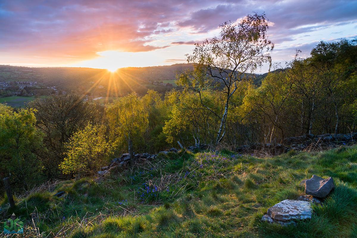 Bow Wood Sunset Star Burst - Peak District Landscape Photography