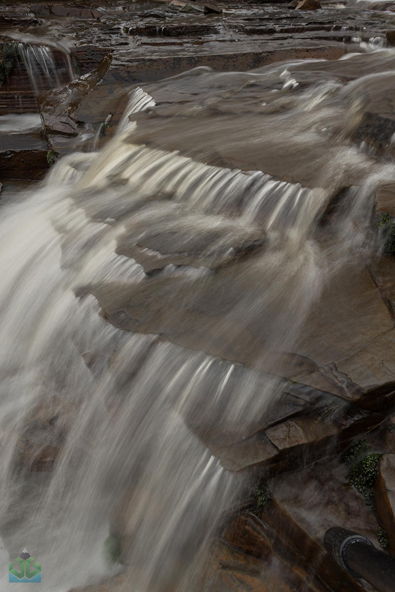 Grindsbrook Clough Waterfall Abstract - Peak District Landscape Photography