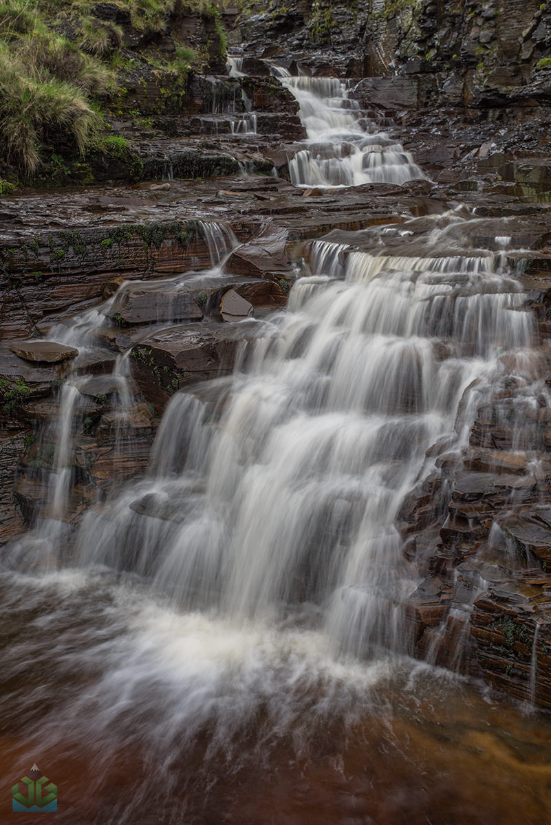 Grindsbrook Clough Waterfall - Peak District Landscape Photography
