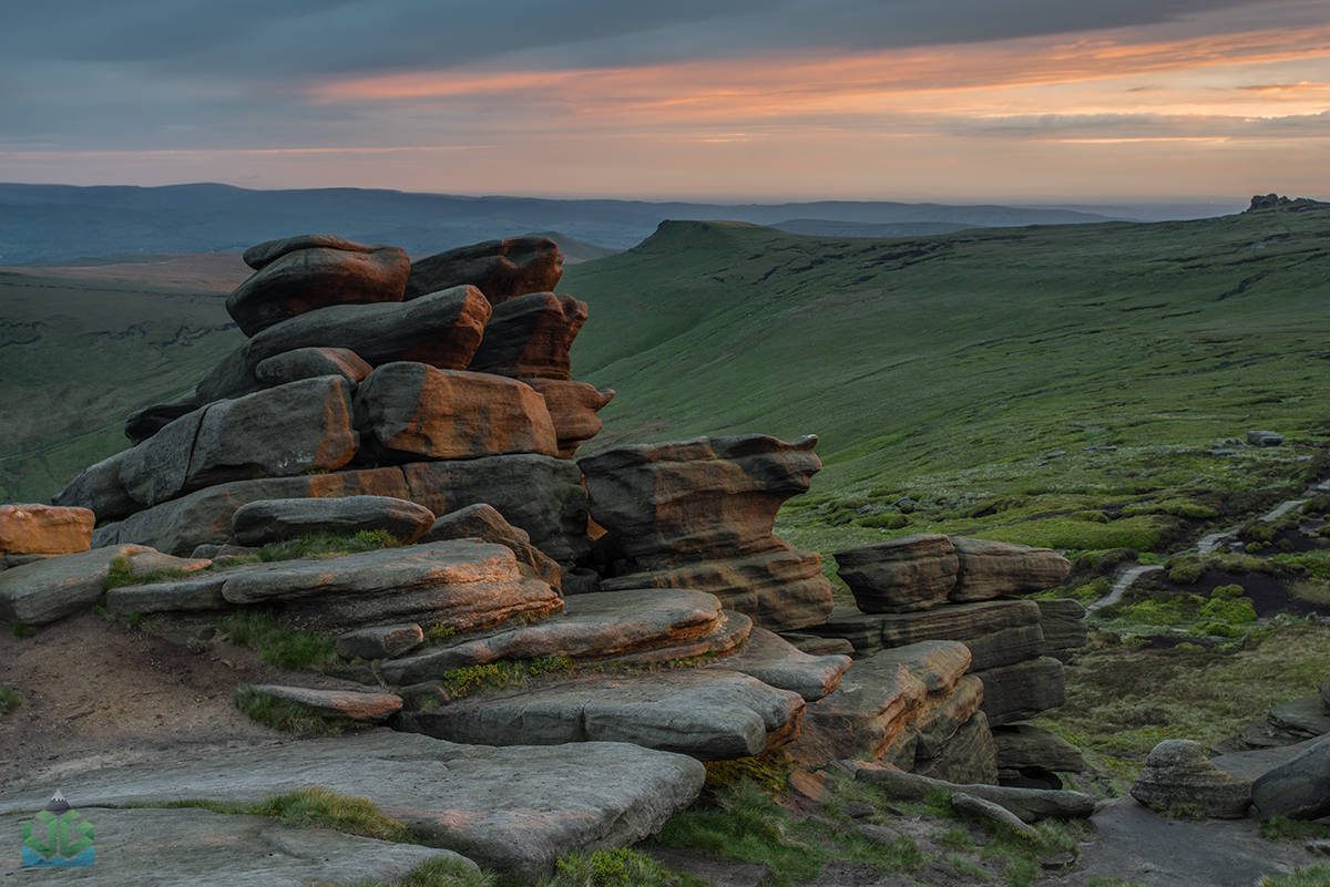 Pym Chair Sunset - Peak District Landscape Photography