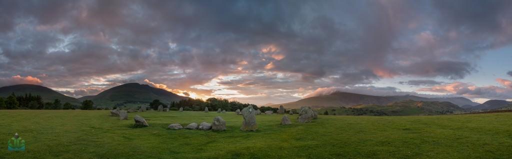 Castlerigg Stone Circle Sunrise Panoramic - Lake District Photography