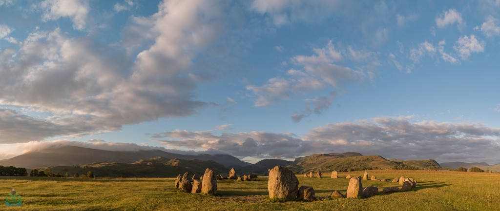Castlerigg Stone Circle Golden Panoramic - Lake District Photography