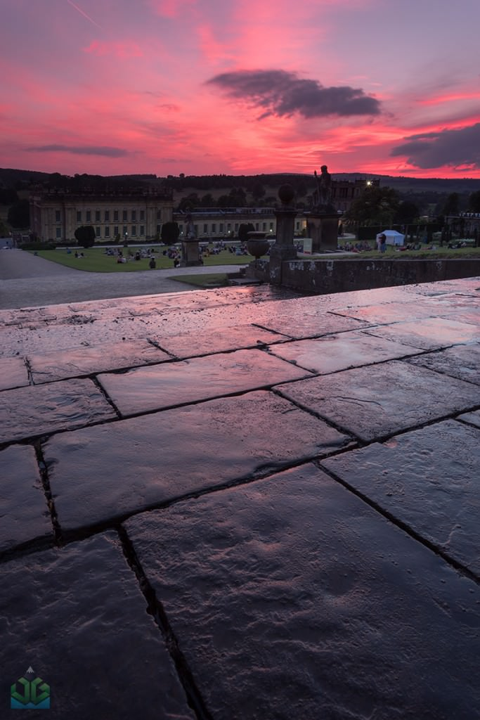 Chatsworth House Cascade Sunset - Peak District Photography