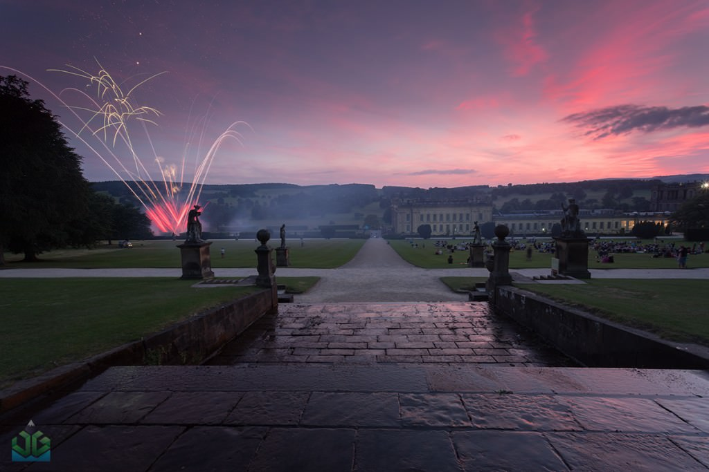 Chatsworth House Fieworks - Peak District Photography