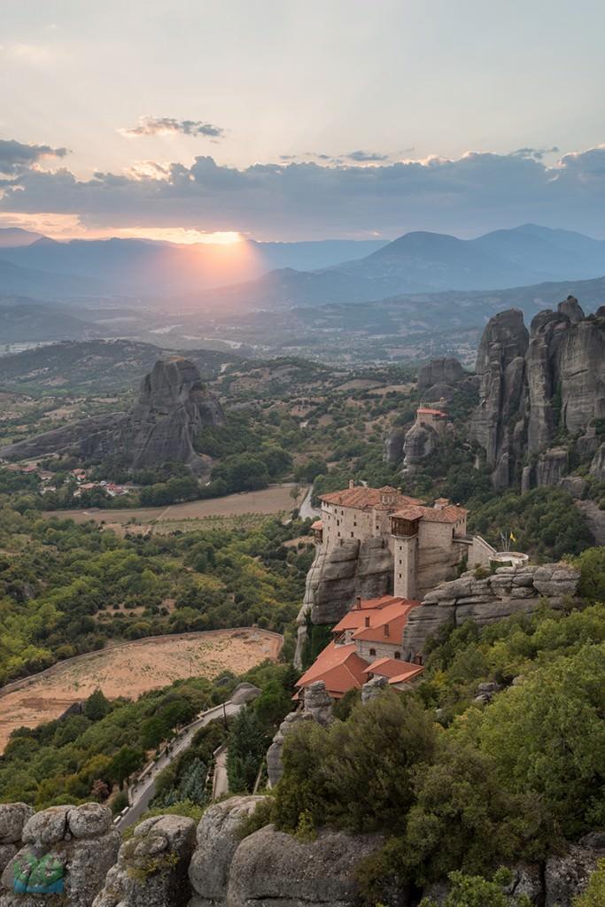 Meteora God Light - Greece Photography