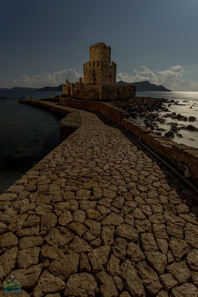 Methoni Moonlight - Greece Photography