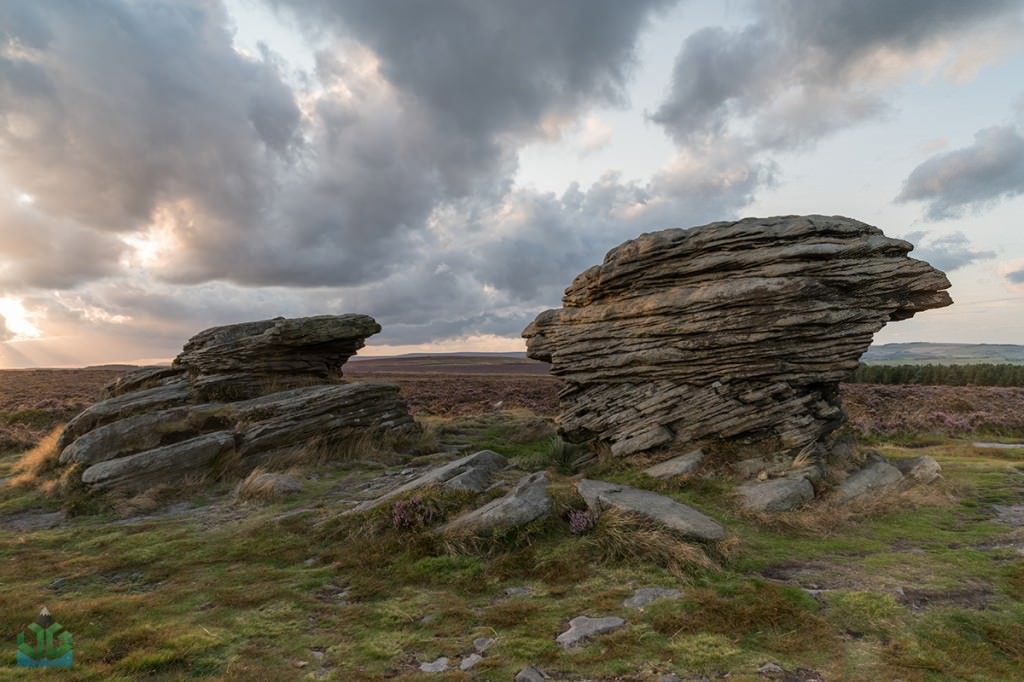 Ox Stones at sunset - Burbage Moor - Peak District Photography