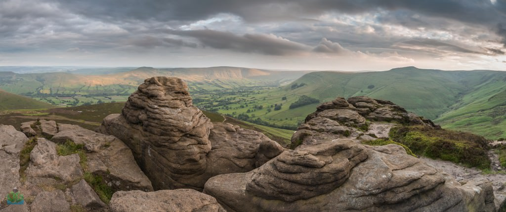 Ringing Roger Sunset Panoramic - Peak District Photography