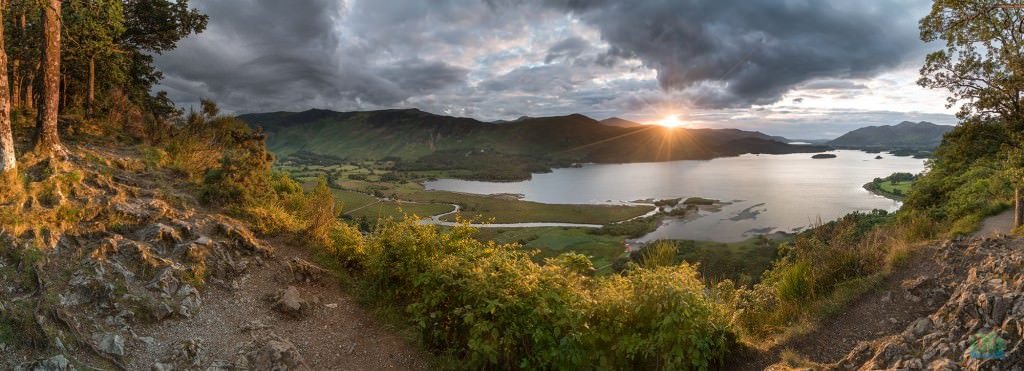 Surprise View Sunset Panoramic - Lake District Photography