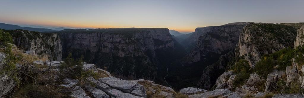 Vikos Gorge Panoramic - Greece Photography