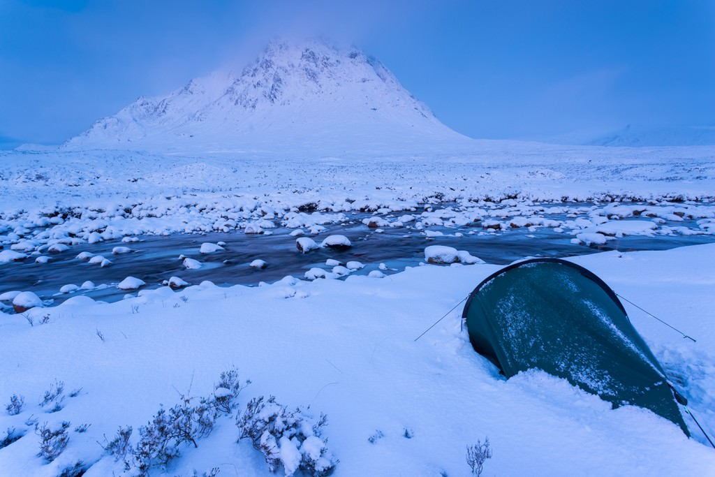 Buachaille Etive Mor Winter Wild Camp - Wild Camping Photography