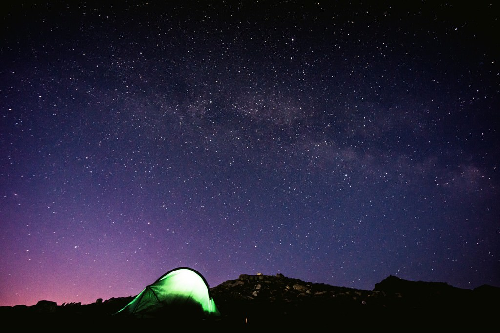 Snowdon Tent at Night - Wild Camping Photography