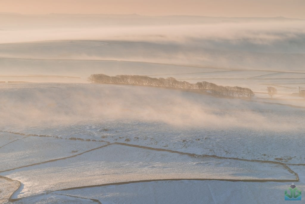 Mam Tor Misty Fields - Peak District Photography