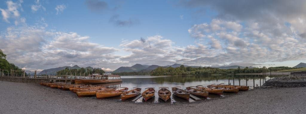 Boats at Derwent Water Landing Jetty while taking Lake District Commercial Photography Work