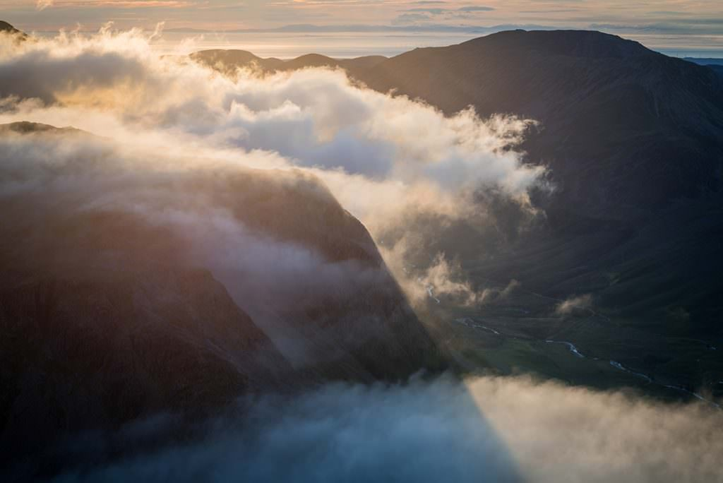 Ennerdale and Scotland from Great Gable - Lake District Photography