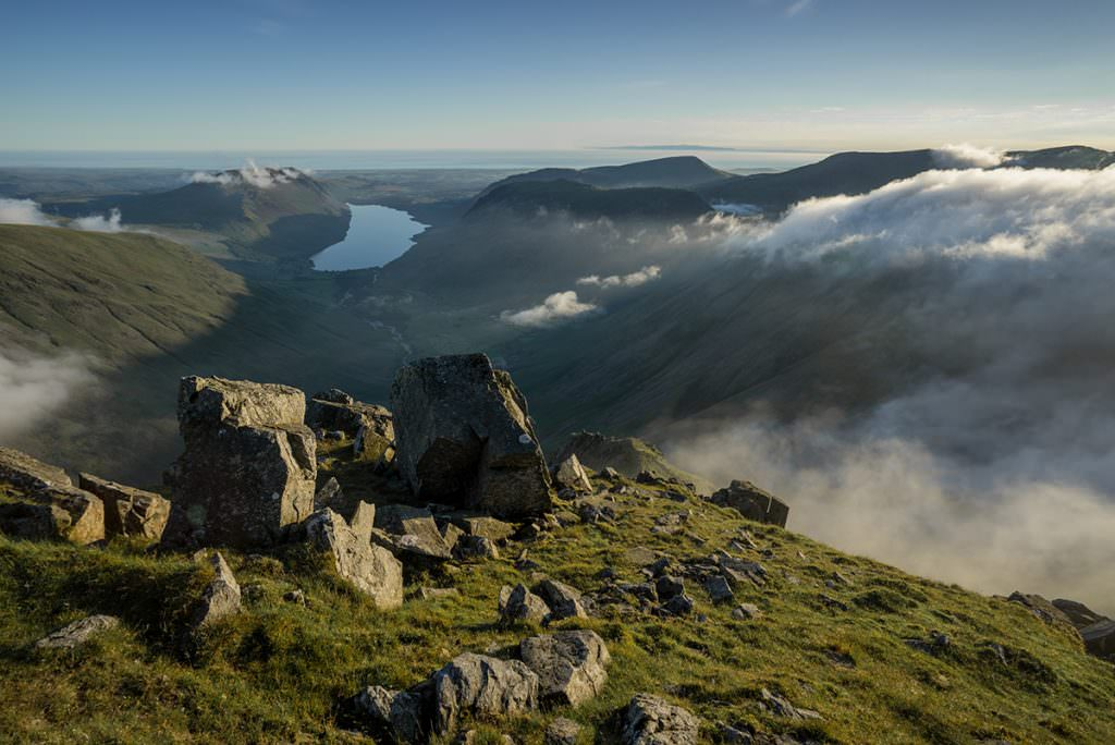 Great Gable Clearing Inversion - Lake District Photography