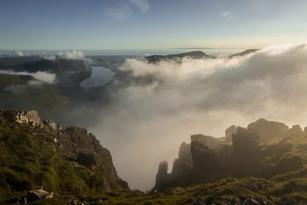 Great Gable Gully Cloud Inversion - Lake District Photography