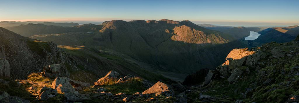 Great Gable Sunrise Panoramic - Lake District Photography