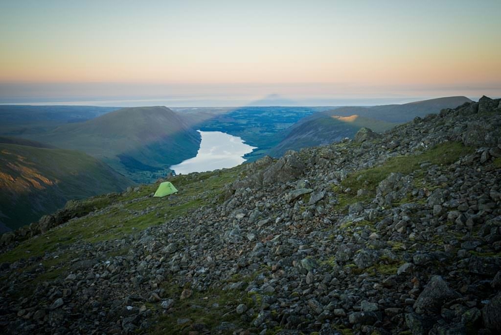 Great Gable Sunrise Shadow - Lake District Photography