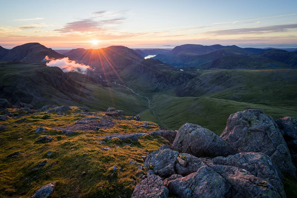 Great Gable Sunset - Lake District Photography