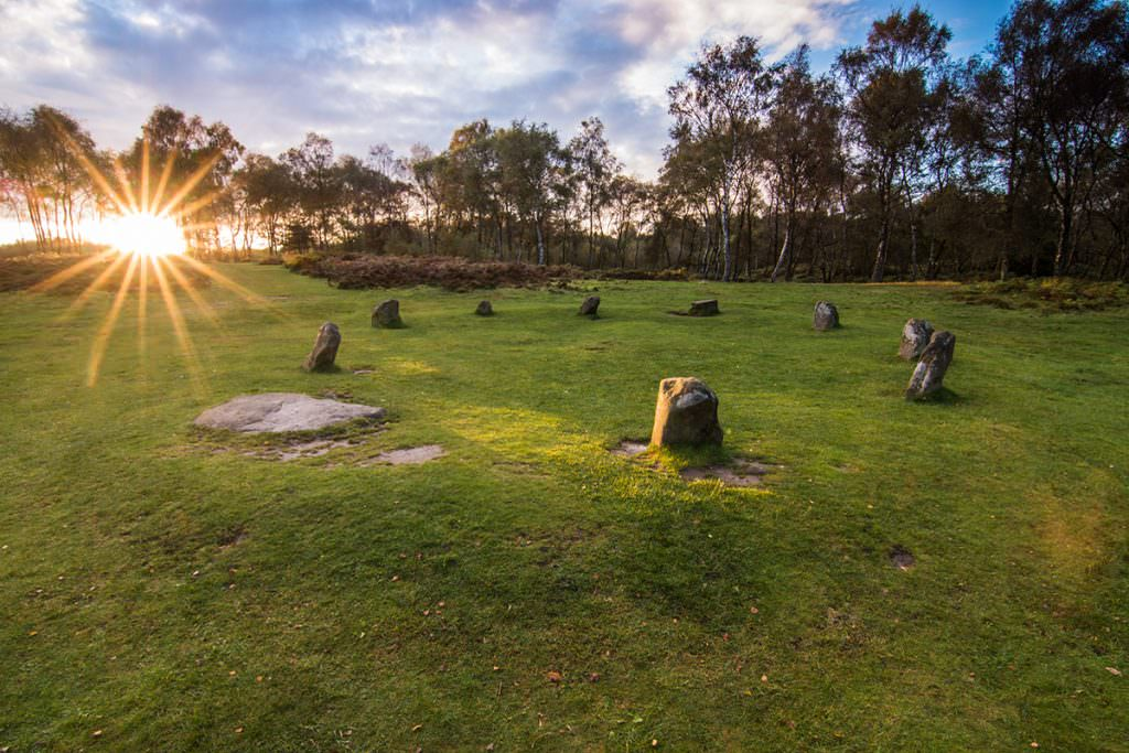 Nine Ladies Stone Circle Sunset - Peak District Photography