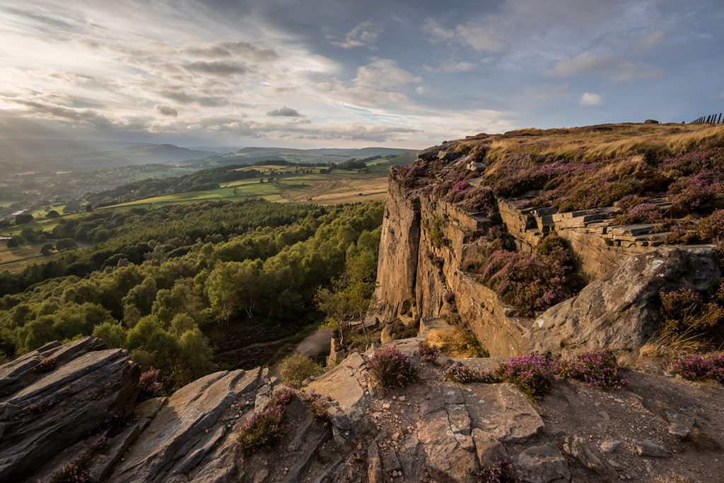 Millstone Edge Sunset - Peak District Photography