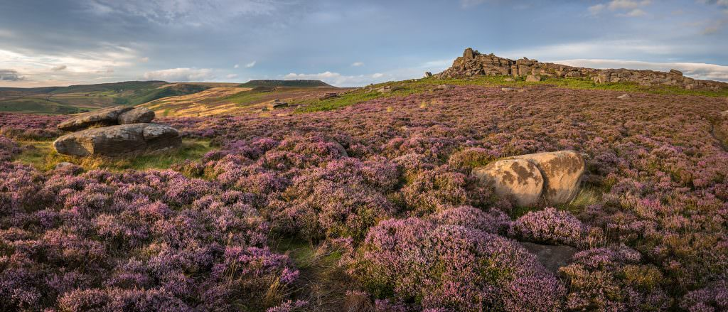 Over Owler Tor Panoramic - Peak District Photography