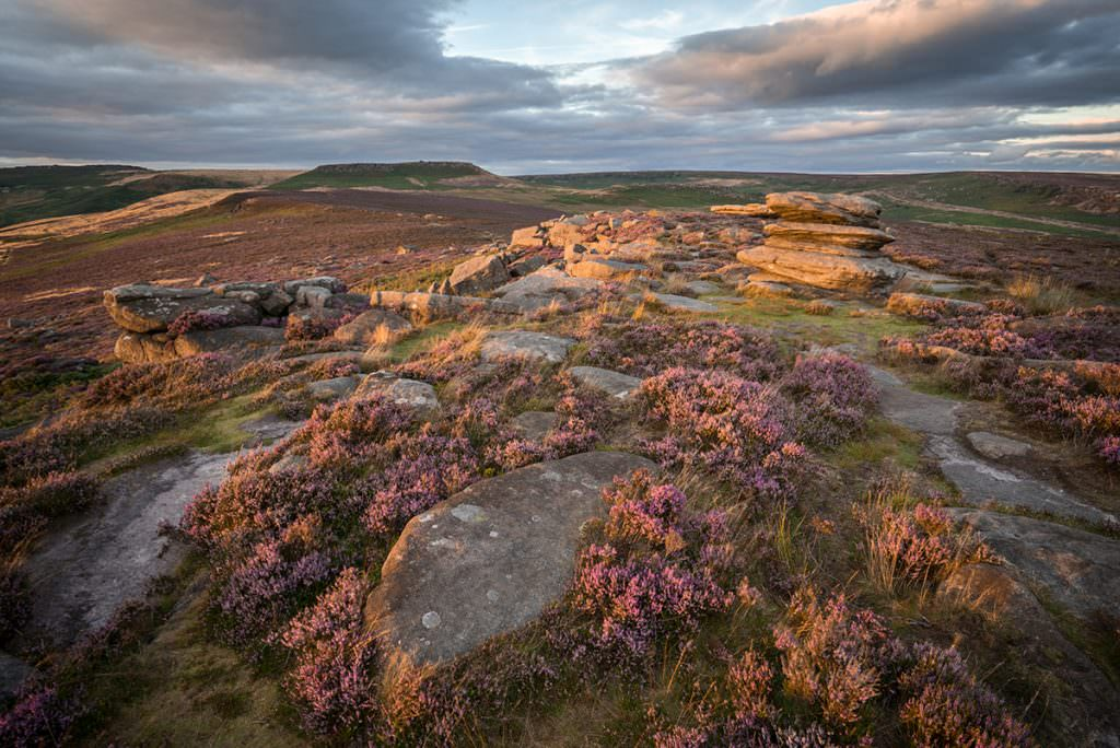 Over Owler Tor Sunset - Peak District Photography