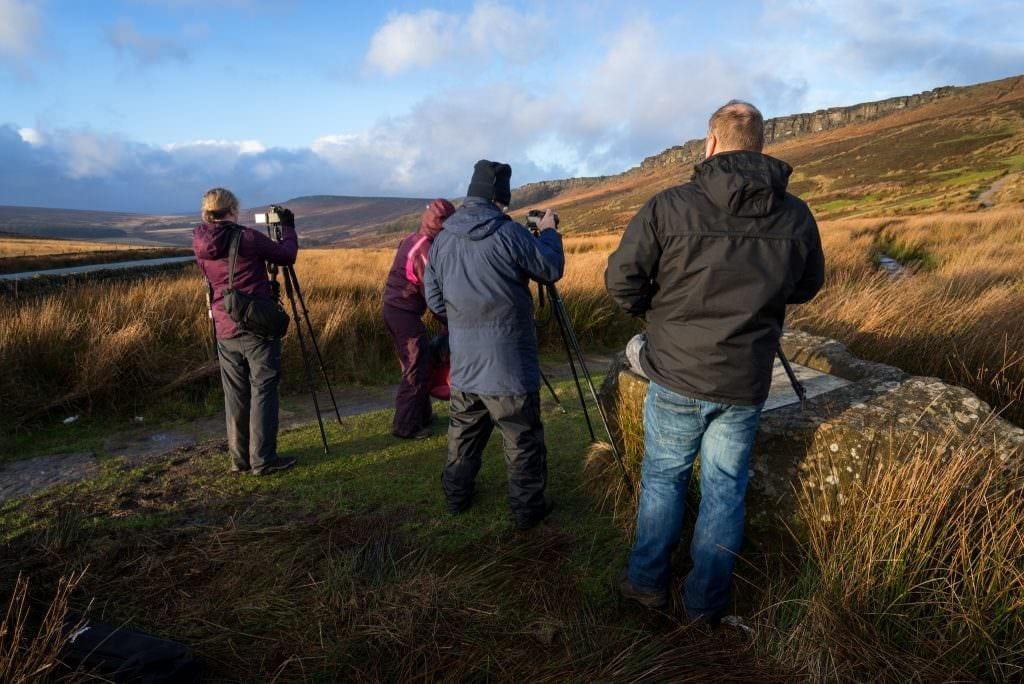 Stanage Edge Sunset Peak District Landscape Photography Workshop