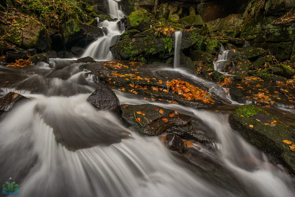 Lumsdale Autumn Waterfall - Autumn in the Peak District