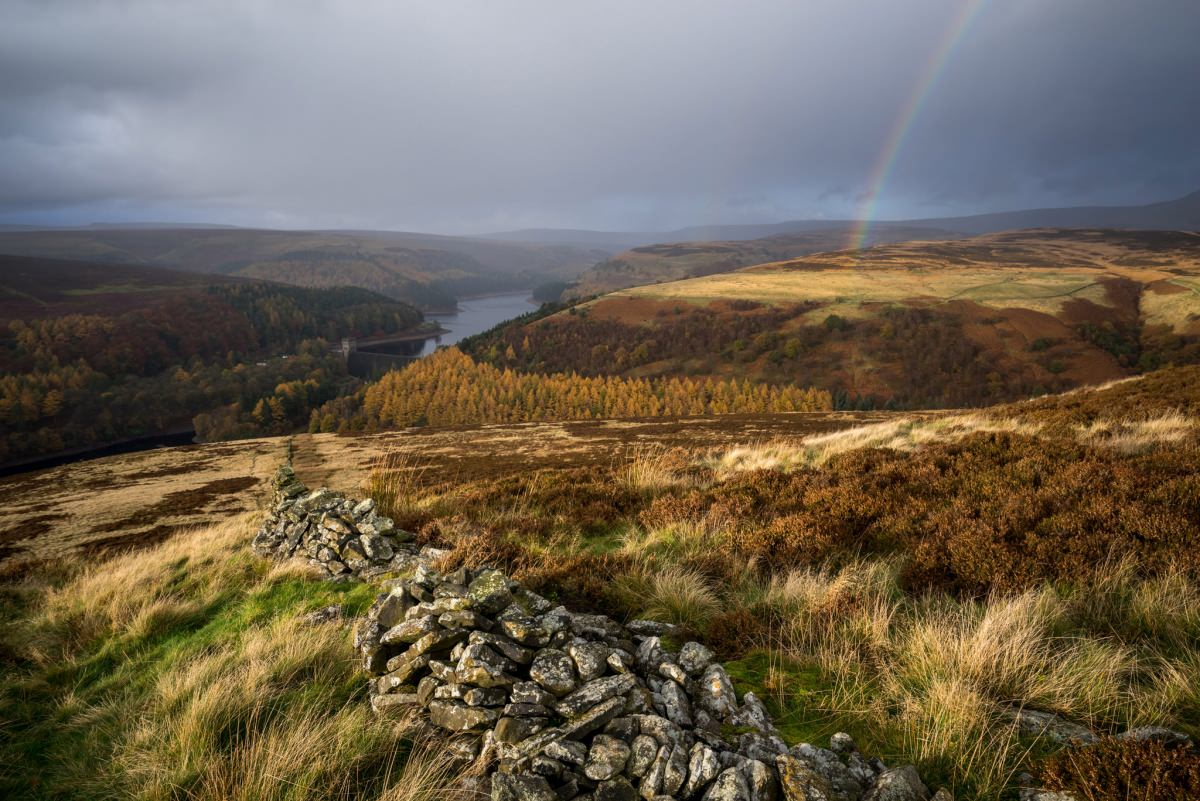 Abbey Bank Rainbow - Peak District Photography