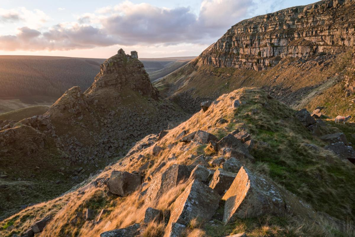 Alport Castles Sunset - Peak District Photography