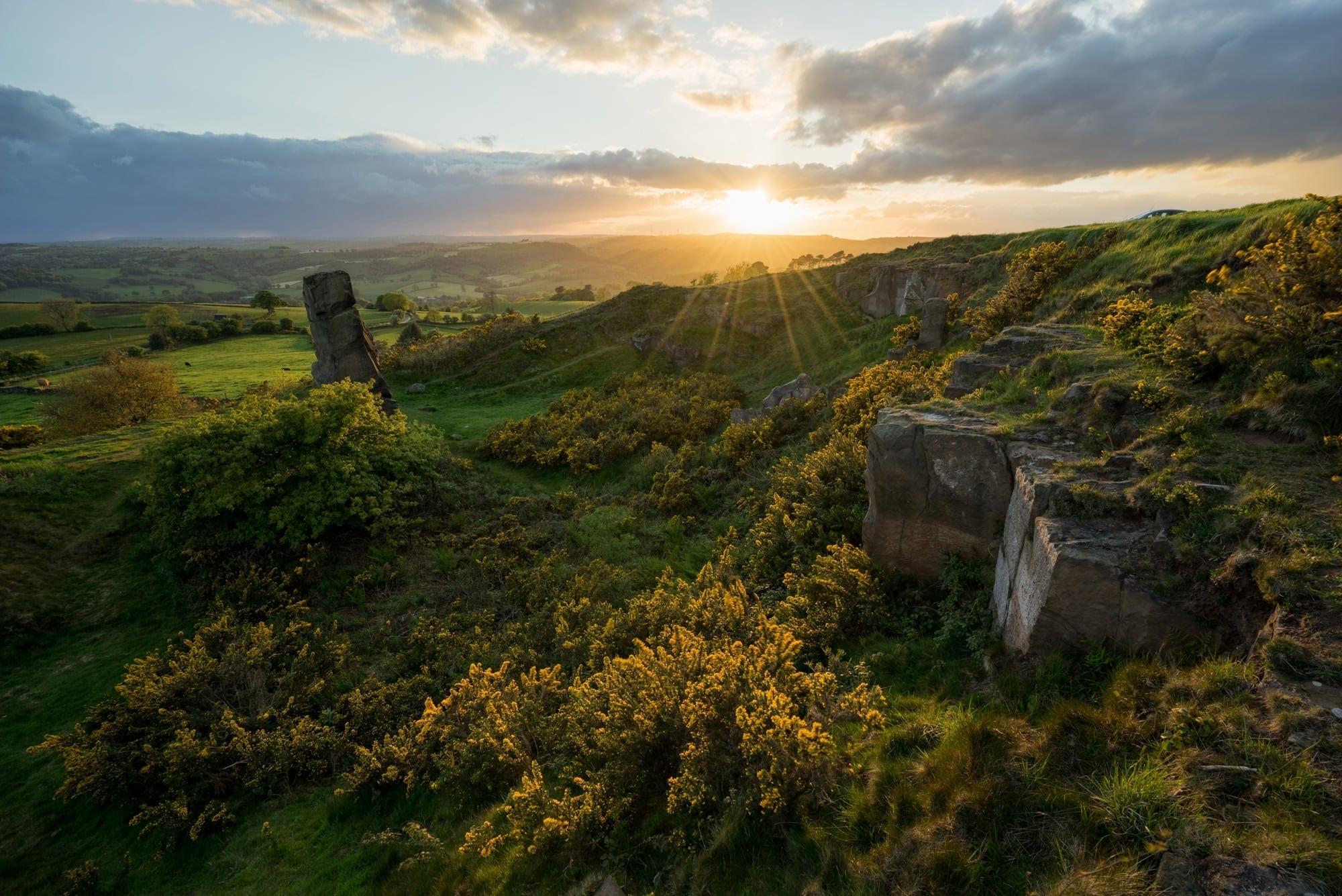 Alport Height Sunset - Peak District Photography