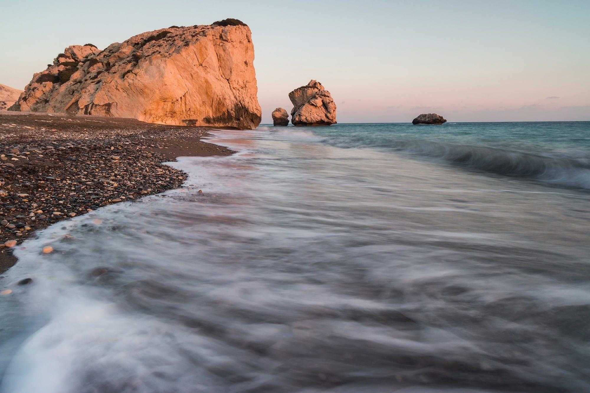 Aphrodites Rock Sunset - Cyprus Photography