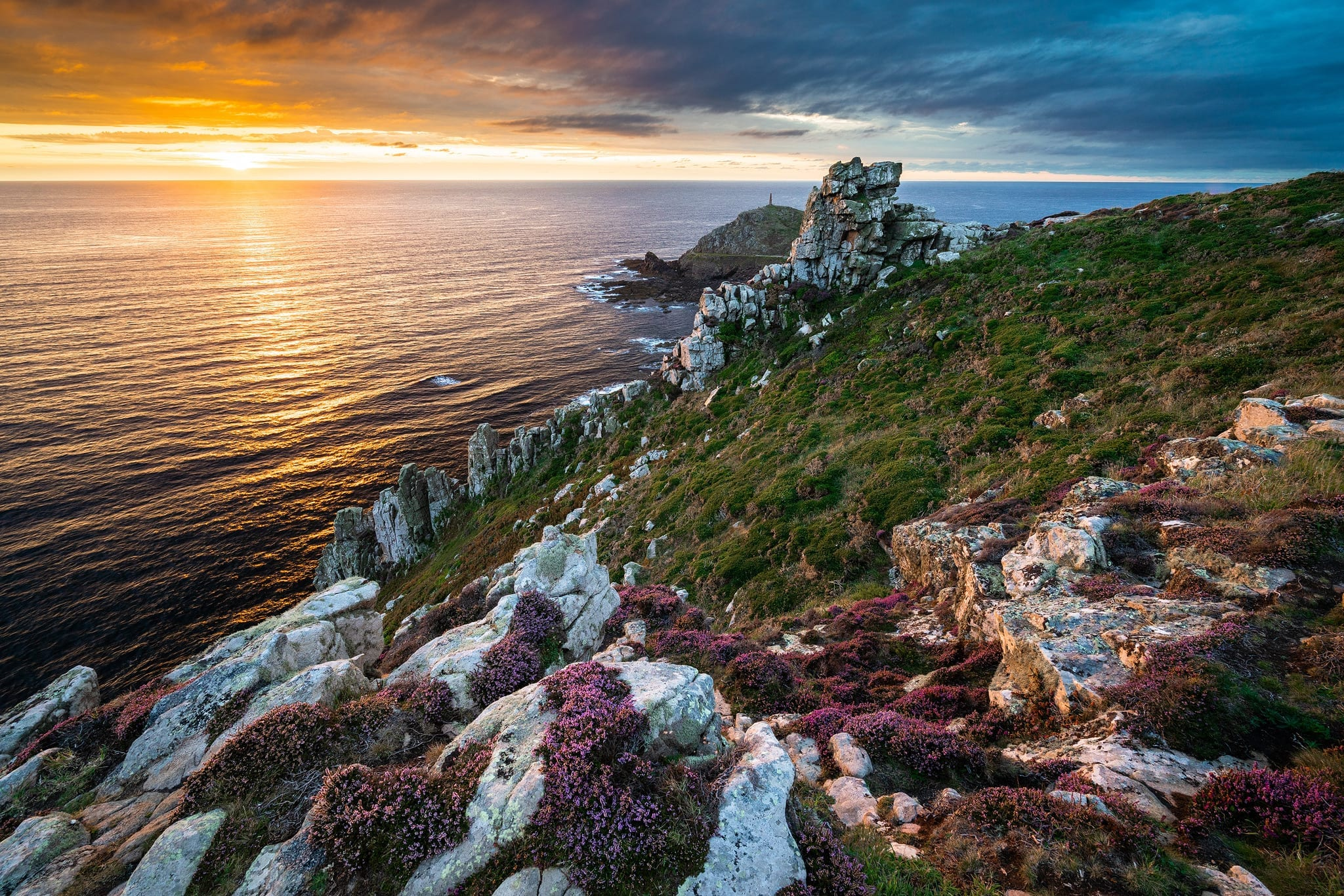 Ballowall Barrow to Cape Cornwall Sunset – Cornwall Landscape Photography